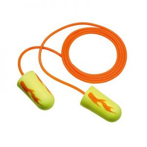 3M E-A-Rsoft Yellow Neon Blasts Earplugs 311-1252, Corded