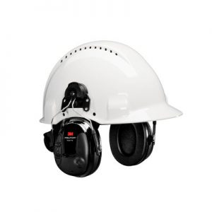 3M PELTOR ProTac III Slim Headset, Black, Hard Hat Attached