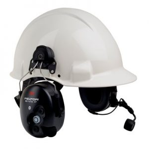 3M PELTOR WS ProTac XP Communication Headset featuring Bluetooth technology -Hard Hat Attached