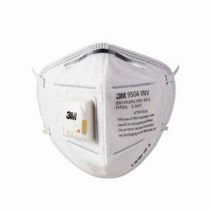 3M Particulate Respirator 9504INV (FFP2, BIS, Valved)
