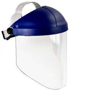3M Ratchet Headgear H8A with 3M Clear Polycarbonate Faceshield WP96